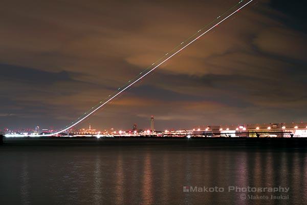 羽田国際空港(北西)方向の夜景を望む