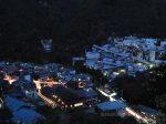 氷川の集落・奥多摩工業(北東)方向の夜景を望む