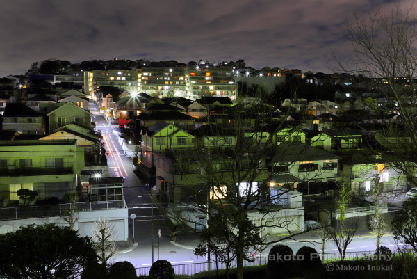冨岡西(北)方向の夜景を望む