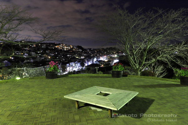 夜景スポット 冨岡西公園の雰囲気