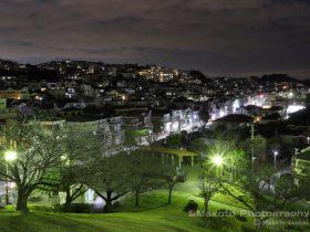 冨岡西(北東)方向の夜景を望む