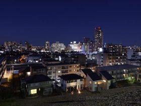 聖蹟桜ヶ丘駅周辺(北東)方向の夜景を望む