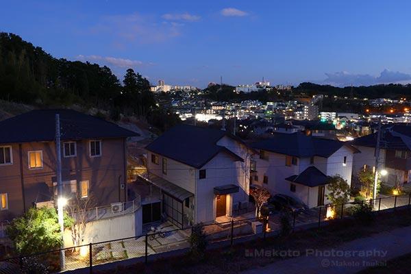 東中野(南東)方向の夜景を望む