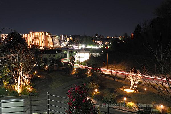 堀之内(南)方向の夜景を望む