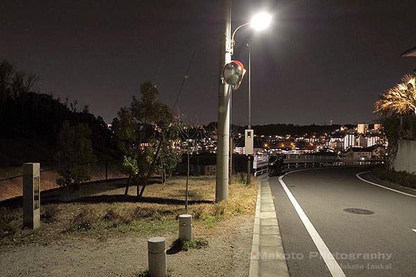 夜景スポット 堀之内東山ふれあい緑道の雰囲気