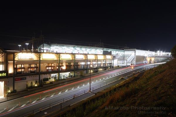 若葉台駅(南西)方向の夜景を望む